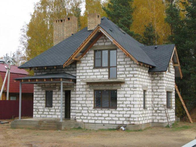Строительство коттеджа из газосиликатного блока производства КСМ г.Старый Оскол