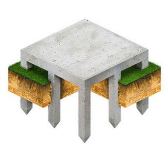 Сваи с монолитной плитой