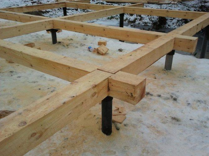 Свайный фундамент для дома из бруса