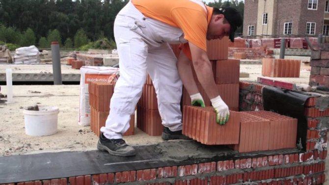 Теплый раствор для керамических блоков