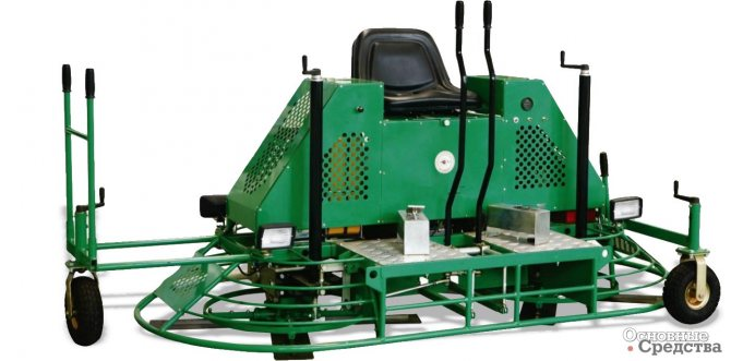 Транспортировка затирочной машины на колесиках
