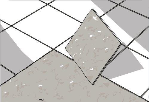 укладка керамогранита на клей