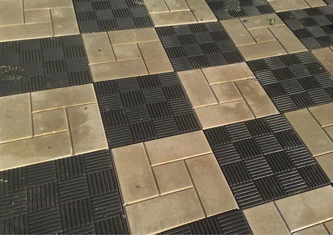 укладка плитки шахматкой