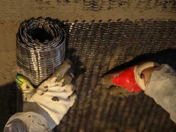 Укладка углеродной сетки