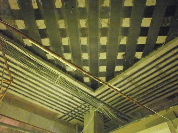 Усиление перекрытия углероднами лентами и ламелями