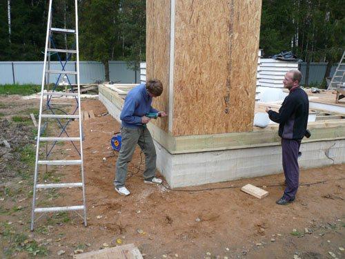 Установка стеновых SIP панелей в угол