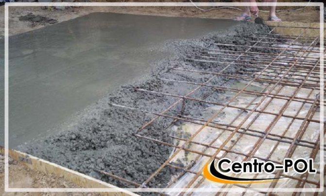 устройство бетонного пола подвала