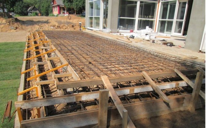 Устройство крыльца из бетона