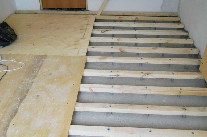 Устройство пола по бетонной плите в частном доме