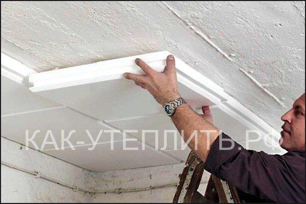 Утепление потолка, крыши в гараже