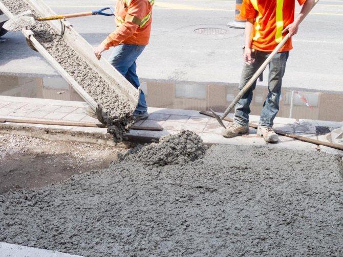 Вес бетонной смеси