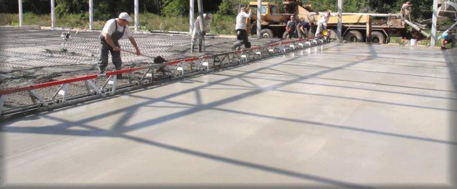 Виброрейка для укладки бетона видео