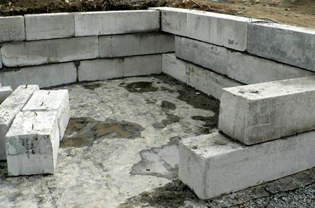 возведение фундамента из блоков 20 20 40