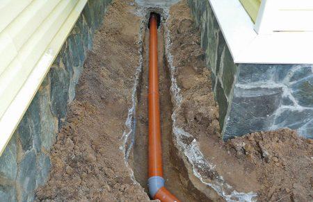 Вывод канализационной трубы из дома особенности, требованияВывод канализационной трубы из дома особенности, требования