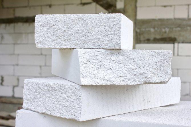 Ячеистая структура газосиликатных кирпичей