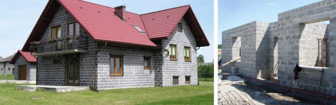 Загородный дом из шлакобетона