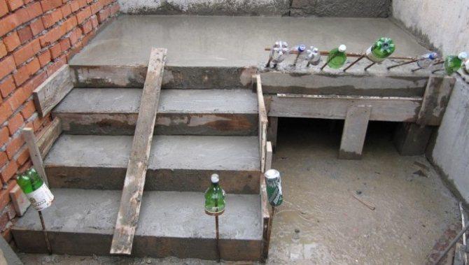 заливка лестницы