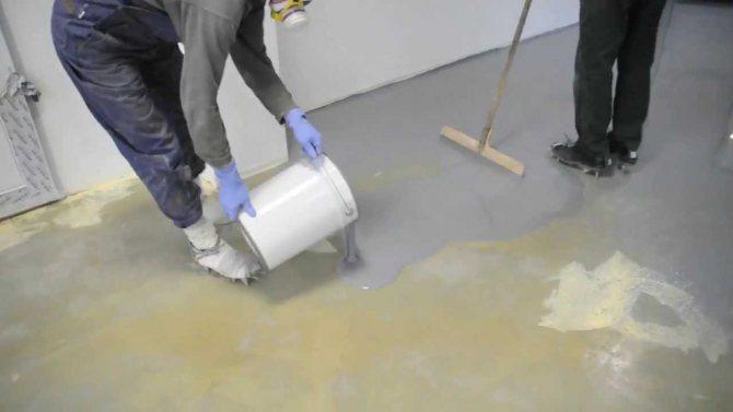 Заливка полимерных полов на основе бетона