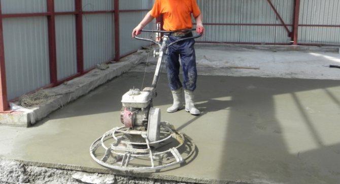 Затирочные машины для свежеуложенного бетона